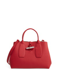 Longchamp Medium Roseau Leather Tote