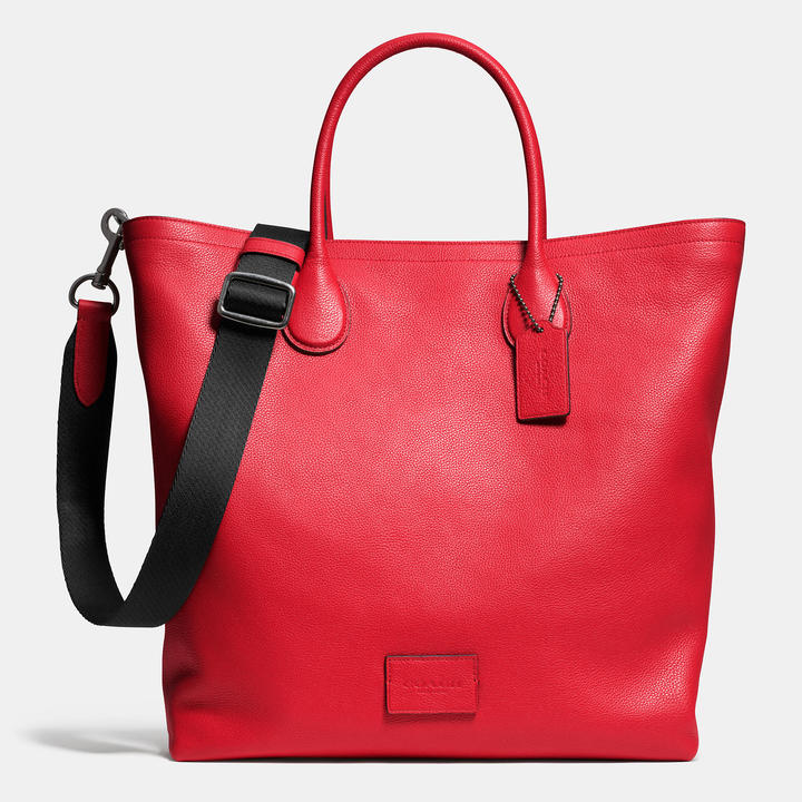 2176c2392a14 Coach Mercer Tote In Pebble Leather, $550 | Coach | Lookastic.com