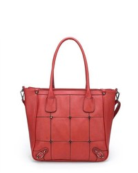 MLC Stylish Handbag Collection Zachary Roomy Tote Bag In Red Color