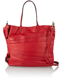 Valentino Pleated Leather Tote
