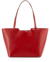Hobo Ramonna Leather Tote Bag Red