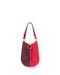 Marni Red And Burgundy Bi Colour Leather Shoulder Bag