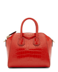 Givenchy Red Croc Mini Antigona Bag