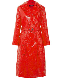 Sies Marjan Bessie Crinkled Vinyl Trench Coat