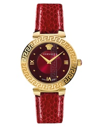 Versace Daphnis Leather Watch
