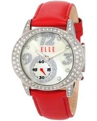 Elletime El20048s01n Red Leather Watch