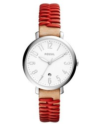 Fossil Jacqueline Leather Strap Watch 36mm