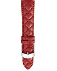Michele 18mm Quilted Leather Watch Strap