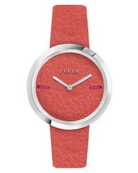 Furla Piper Leather Dial Leather Watch