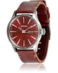en accessories men s and black natural sentry watches leather premium ca nixon
