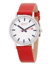Mondaine Stainless Steel Strap Watch