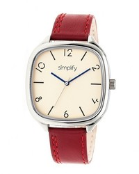 Simplify The 3500 Leather Band Watch