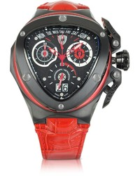Lamborghini Tonino Spyder Red Leather Chronograph Watch