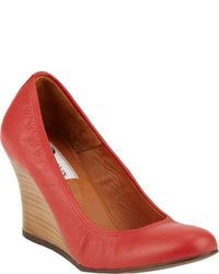 Lanvin Round Toe Wedge Pumps
