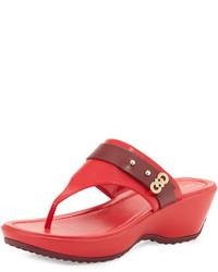 Margate wedge thong sandal syrahtrue red medium 644875