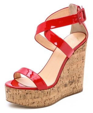 0f1d0e6e2652 ... Red Leather Wedge Sandals Giuseppe Zanotti Patent Leather Wedges ...