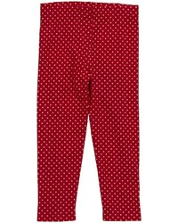 Little Green Radicals Button Leggings Red 3 4 Years