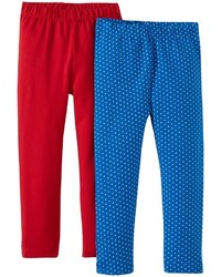 Jo-Jo Jojo Maman Bebe 2 Pack Leggings Red 5 6 Years