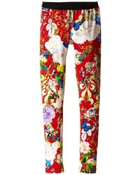 Roberto Cavalli Kids Floral Print Leggings Girls Casual Pants