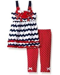 Nannette Little Girls 2 Piece Crab Playwear Set