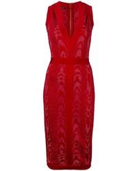 Balmain Leopard Pattern Midi Dress
