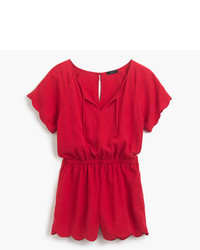 J.Crew Scalloped Romper