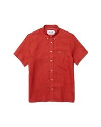 Lacoste Regular Fit Linen Pocket Shirt