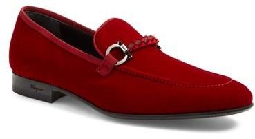 niña Los invitados estudio  Salvatore Ferragamo Lord Velvet Bit Loafer, $640   Nordstrom   Lookastic