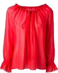 Ermanno Scervino Gathered Neckline Blouse