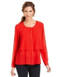 593e7e591 Women s Red Long Sleeve Blouses from Macy s