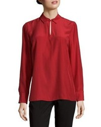 Lafayette 148 New York Shay Long Sleeve Silk Blouse