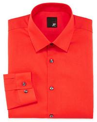 JF J.Ferrar Jf J Ferrar Easy Care Solid Dress Shirt Slim Fit