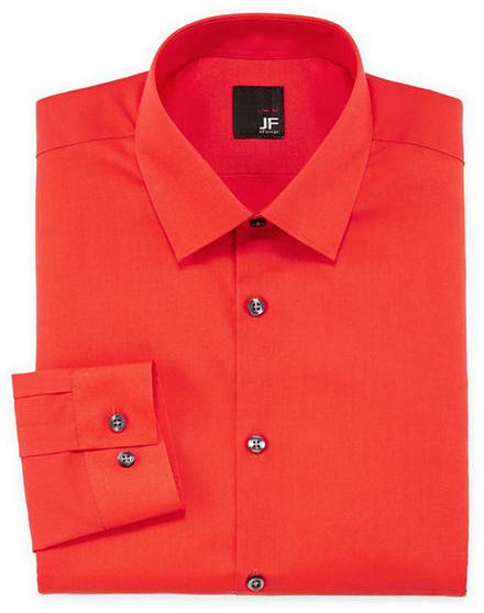 756c125fbb314 ... JF J.Ferrar Jf J Ferrar Easy Care Solid Dress Shirt Slim Fit ...