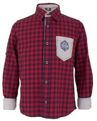 Timberland Kids Red And Navy Check Shirt