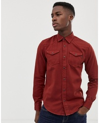Scotch & Soda Regular Fit Gart Dyed Western Inspired Shirt