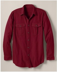 Eddie Bauer Relaxed Fit Eddies Favorite Flannel 2 Pocket