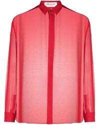 Saint Laurent Sheer Long Sleeve Shirt