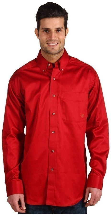 Ariat Solid Twill Shirt Long Sleeve Button Up