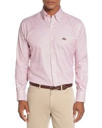 Peter Millar University Of Georgia Regular Fit Twill Tattersall Sport Shirt