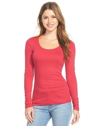 Caslon Melody Long Sleeve Scoop Neck Tee