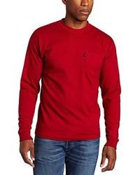 Key Apparel Long Sleeve Heavyweight Pocket T Shirt