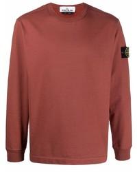Stone Island Round Neck Long Sleeve T Shirt