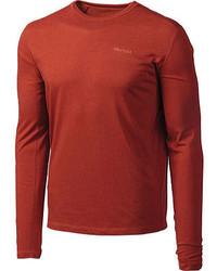 Marmot Saxon Ls Dark Mineral Heather T Shirts