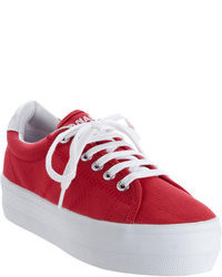 Red low top sneakers original 3694654
