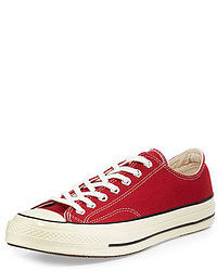 Red low top sneakers original 543456