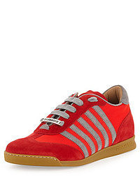 DSquared 2 Striped Low Top Sneaker Red