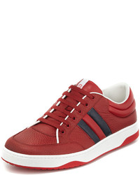 Gucci Ronnie Leather Low Top Sneaker Red