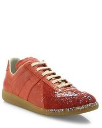 Maison Margiela Replica Paint Splatter Low Top Sneakers
