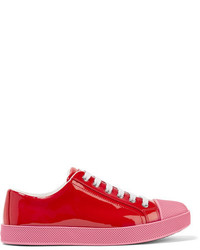 Prada Patent Leather Sneakers Red