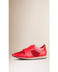 Burberry Prorsum The Field Sneaker In Leather And Mesh